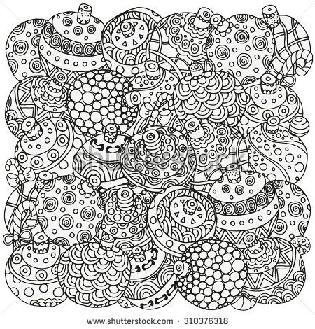 Christmas Coloring Anti Stress Therapy 4 Zentangle Page For Adults