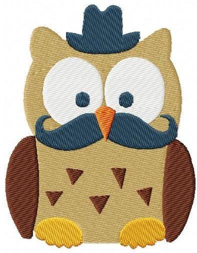 een uil is het teken van wijsheid. ik vind het ook hele mooie dieren. ik hou ook van moustache snorren.