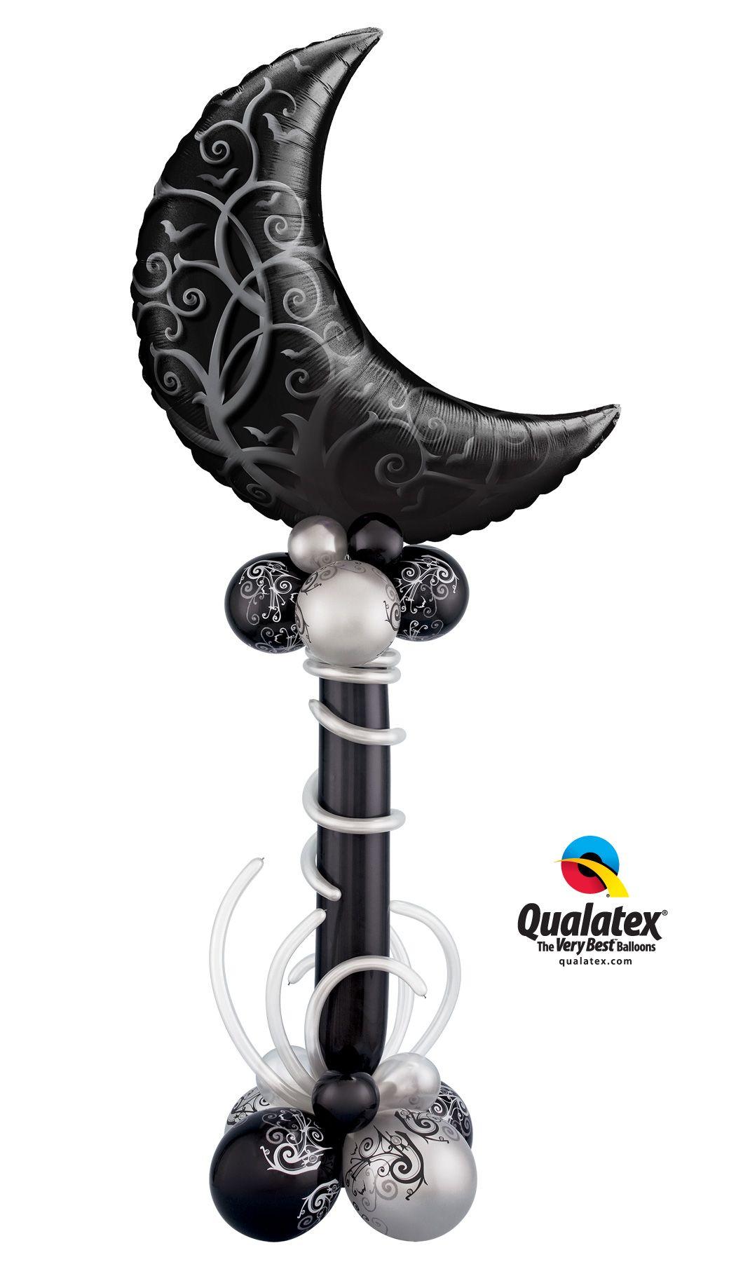 Gothic Halloween party decor made of Qualatex balloons   balloon ...