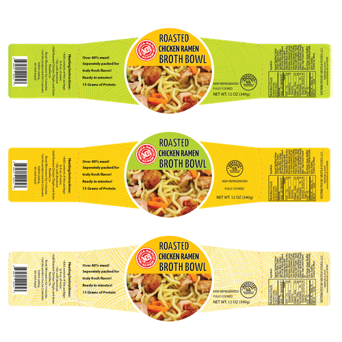 Label Design Needed For New Broth Bowl Product Packaging