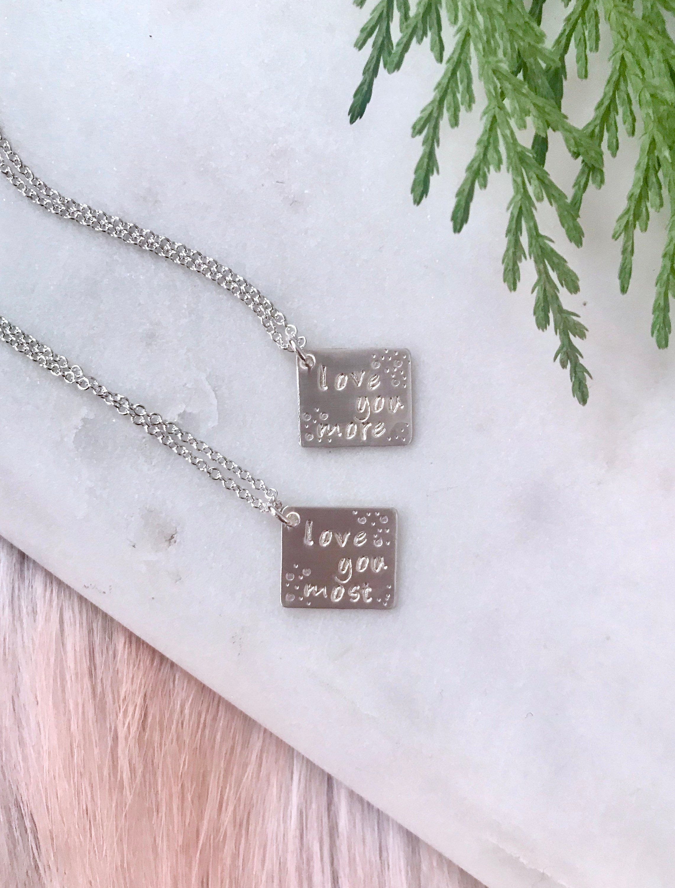Christmas Gifts For Her Personalized Love Necklace BFF Jewelry