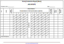 What Is An Mis Format  Hourly Production Report