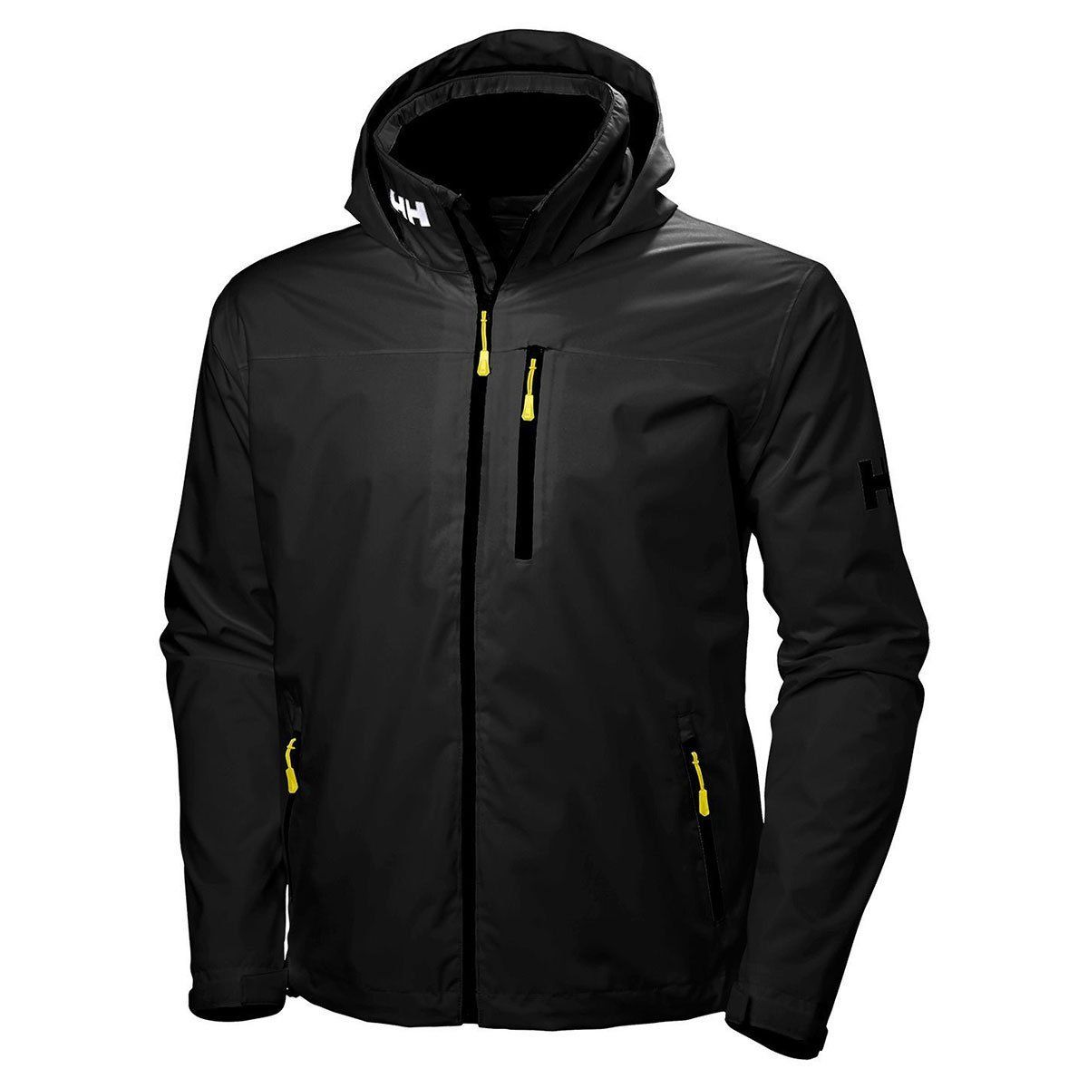 Helly Hansen Men's Black Crew Hooded Midlayer Jacket –  Helly Hansen Men's Bla…