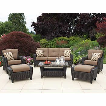 Agio Kingsley 6-piece Deep Seating Set | Backyard ideas | Pinterest