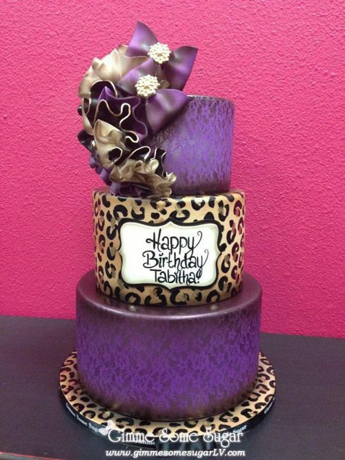 Purple Leopard Cake