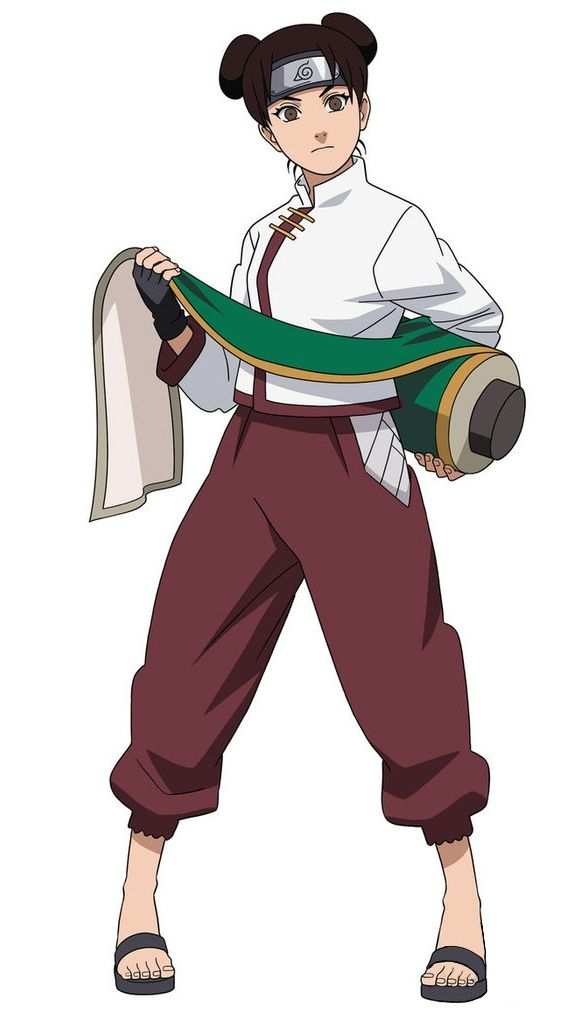 Tenten (テンテン, Tenten) is one of the main supporting characters of the series. She is a chūnin-level kunoichi of Konohagakure and member of Team Guy.