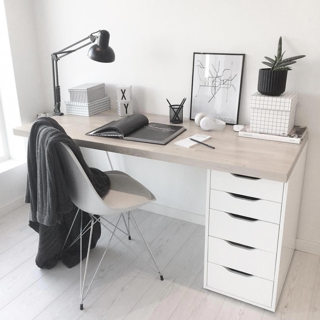 Sweet Simple Desk Office Home Inspiration House Living Space Room Scandinavian Nordic Bedroom Design Diy Minimalist Bedroom Design Minimalist Bedroom