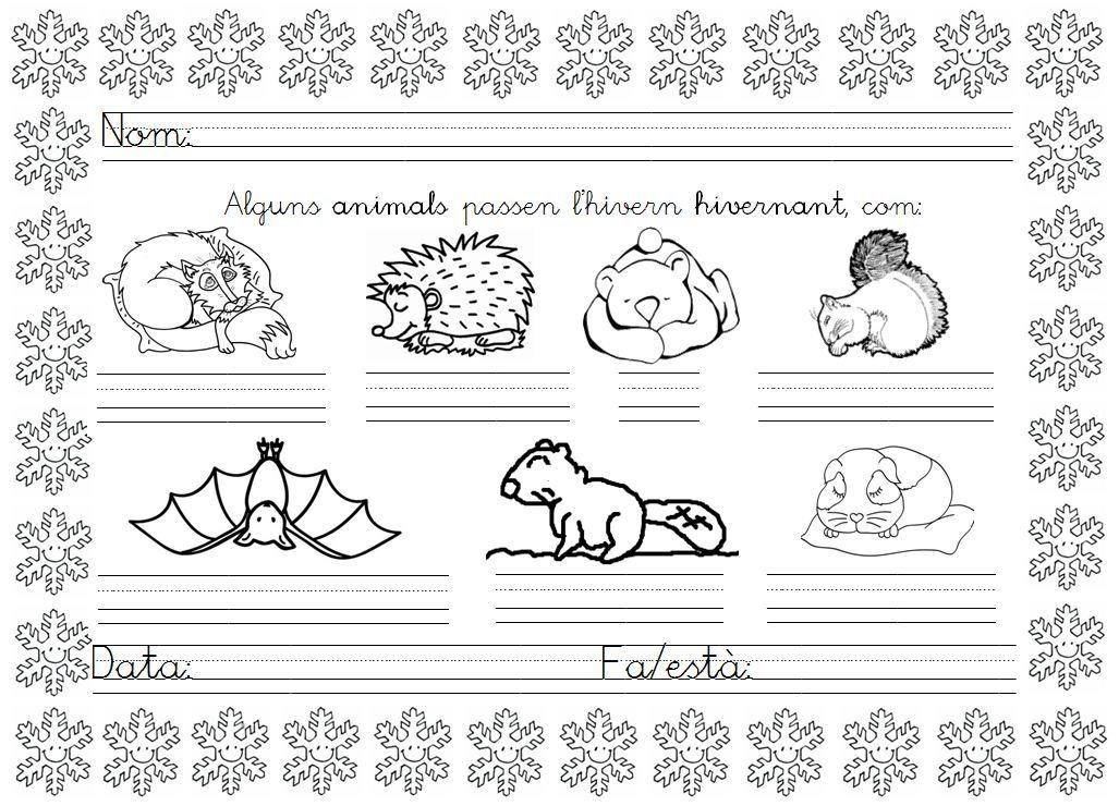 Mi grimorio escolar: EN INVIERNO ALGUNOS ANIMALES HIBERNAN ...