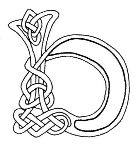 Celtic Letter B Free Celtic Letters