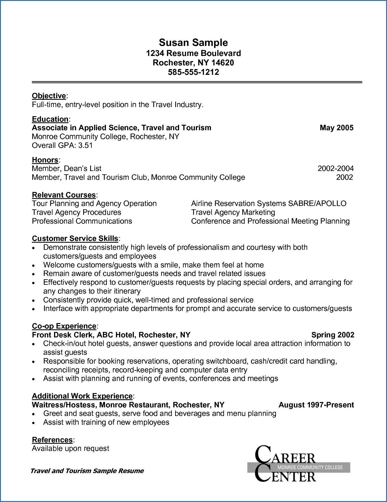 14 Sample Resume Beverage Server