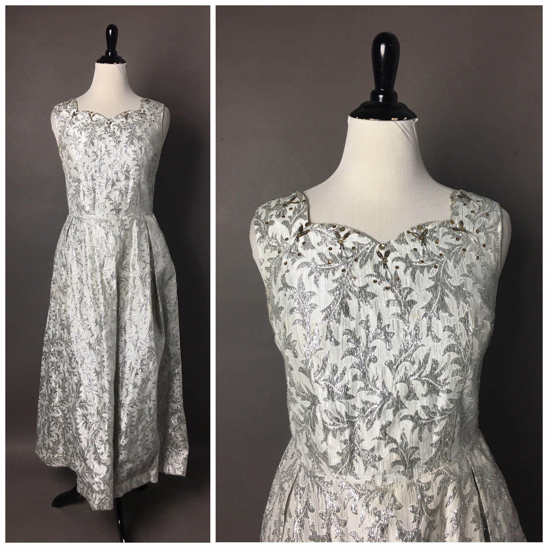 Vintage 60s Dress 1960s Dress Silver Lurex Dress Prom Etsy Lurex Dress Cocktail Dress Vintage Vintage Dress 60s [ 3000 x 3000 Pixel ]