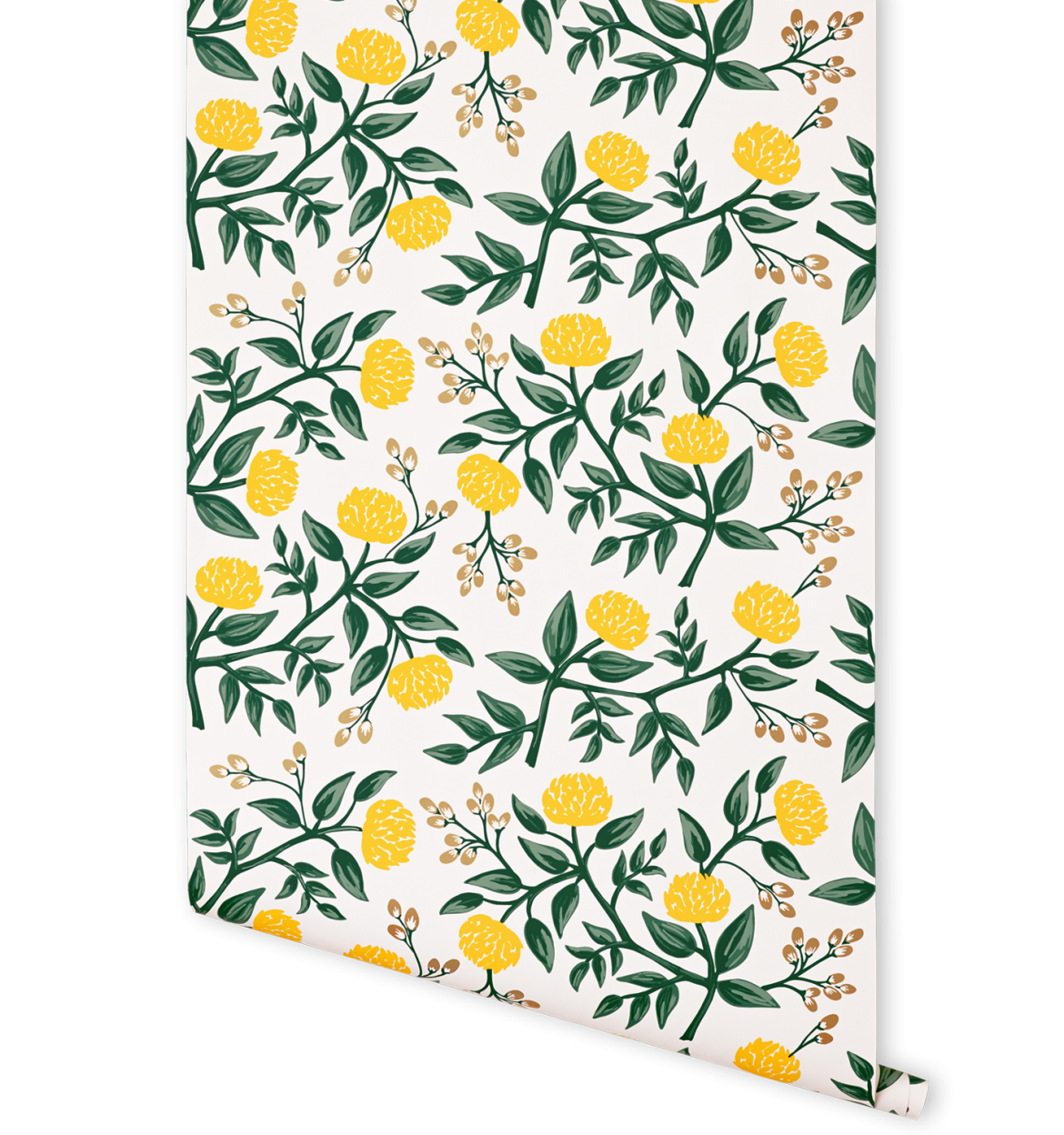 The Peonies Yellow Wallpaper Features Yellow Peonies