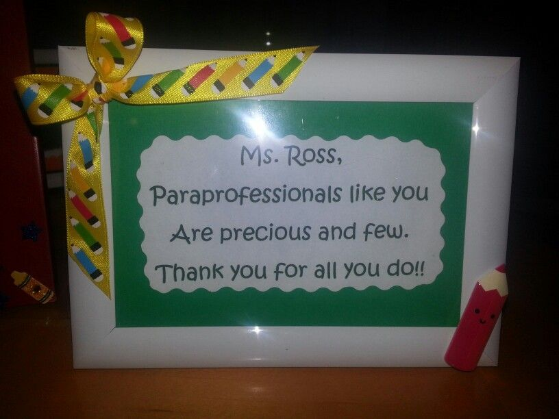 Paraprofessional gift teacher appreciation gifts easy