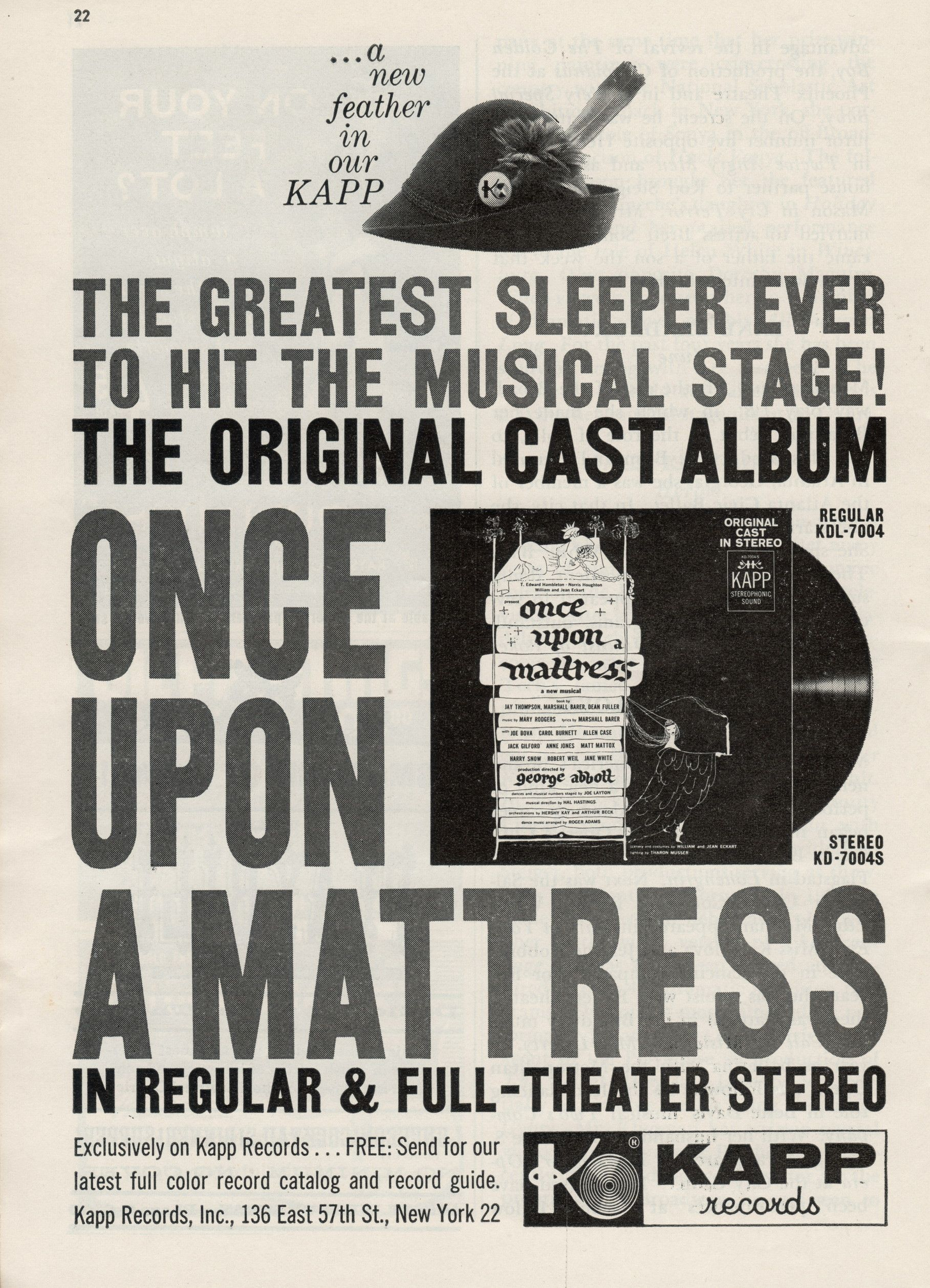 once upon a mattress broadway poster. \ Once Upon A Mattress Broadway Poster
