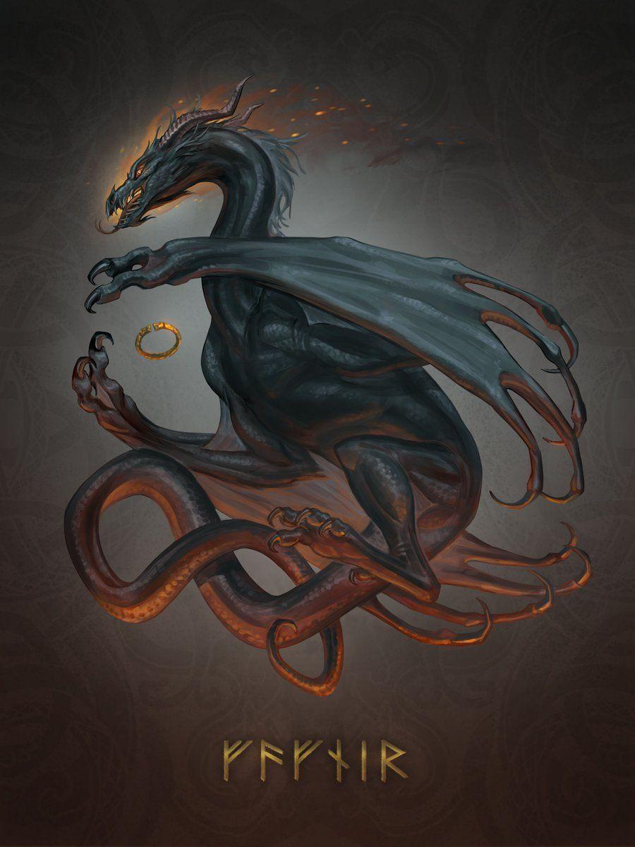 Twitter Mythological creatures, Norse myth, Norse