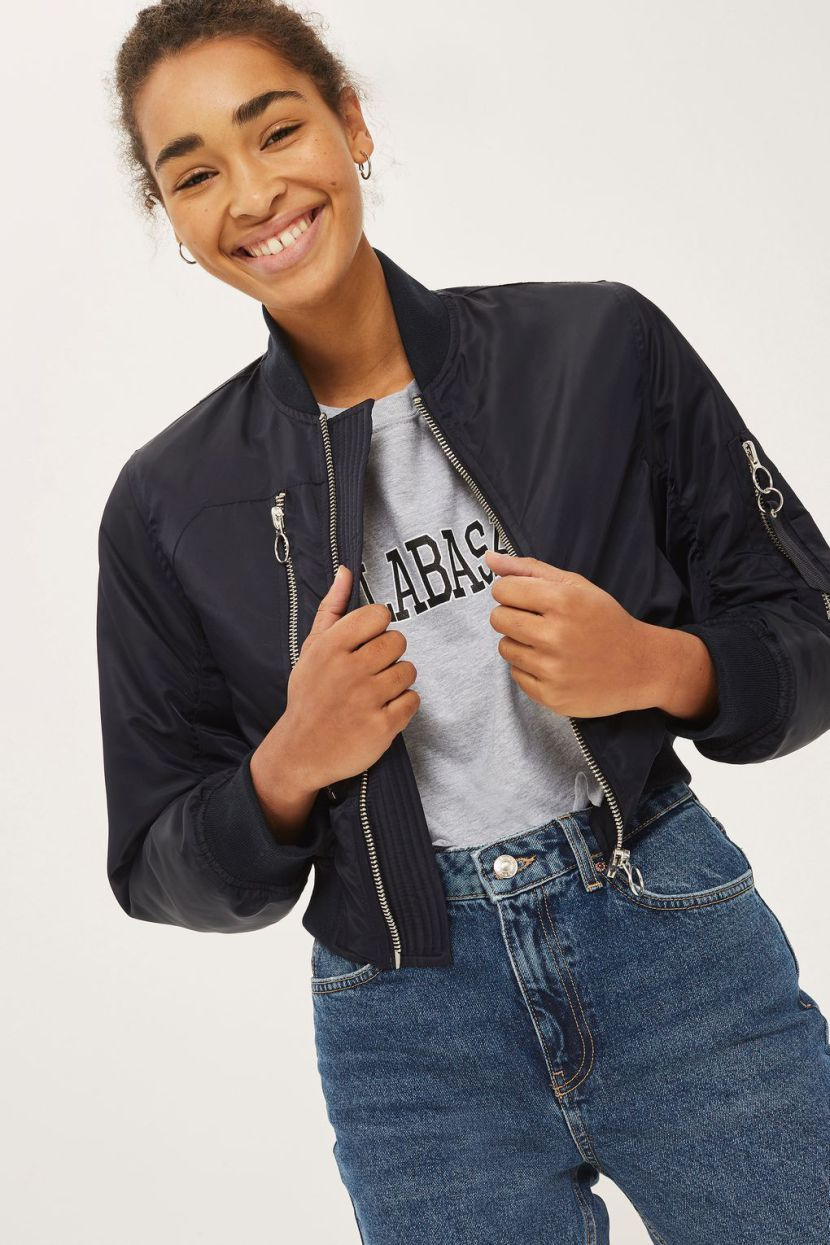 These Affordable Bomber Jackets Are So Cute And Less Than 100 Bomber Jacket Womens Cropped Jacket Cropped Bomber Jacket [ 1245 x 830 Pixel ]