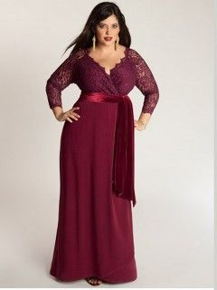 Robe cocktail rouge grande taille