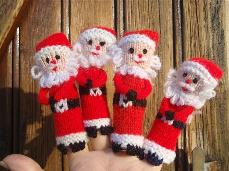 Les mains dans la tête: Père Noël marionnette à doigts