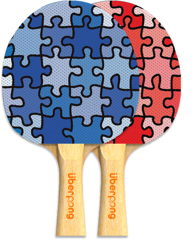 """Jigsaw"" ping pong paddle by Uberpong (design: Samantha Melinshyn). $25 #pingpong #tabletennis #giftidea"