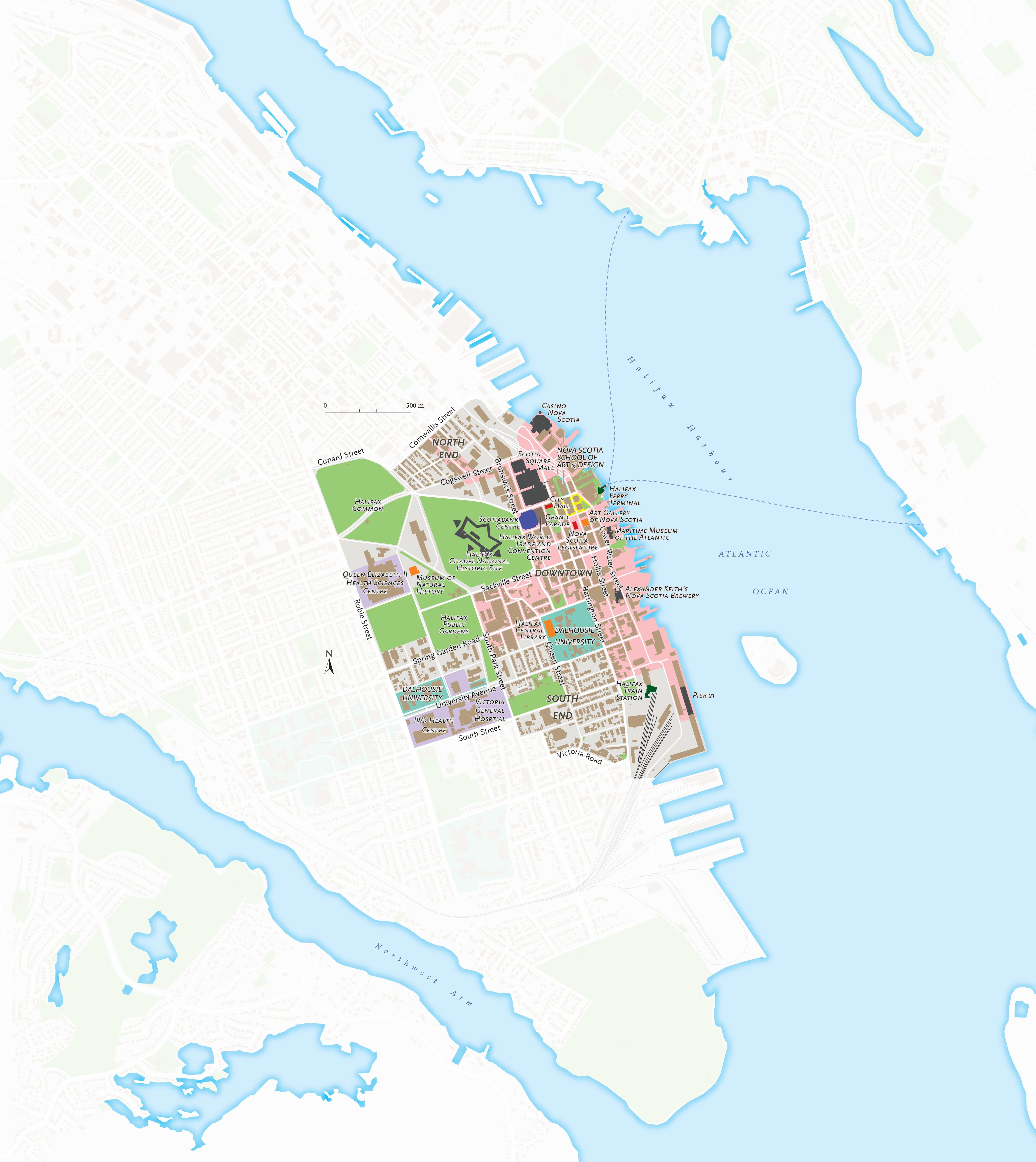 A map of downtown halifax ns part of an ongoing series of city a map of downtown halifax n part of an ongoing series of city maps by canadian geographic gumiabroncs Image collections