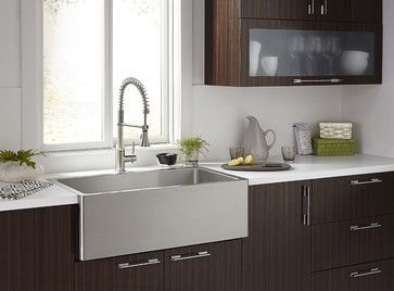 Orchard Stainless Steel Apron Sink Modern Bathroom Other Metro Dxv Kitchen Design