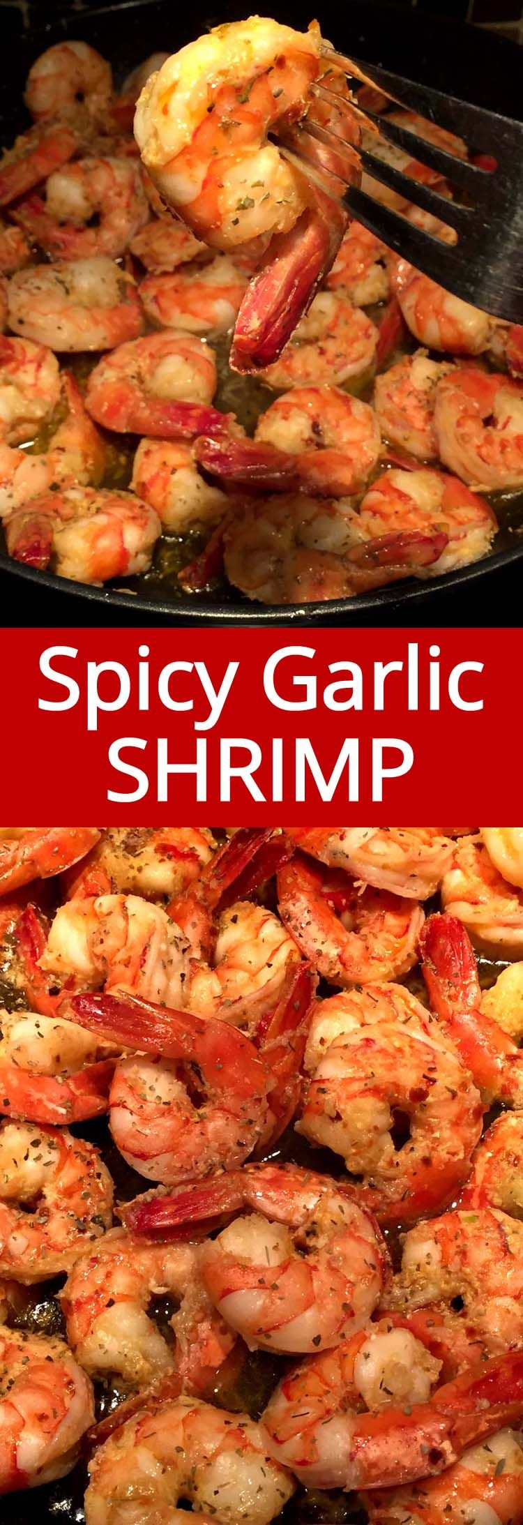 Spicy Garlic Shrimp With Olive Oil #easyshrimprecipes