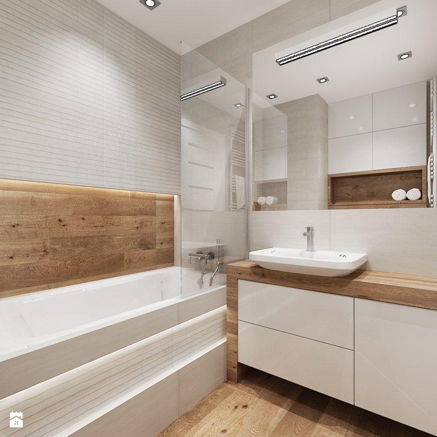 Mieszkanie w bieli i cegłą w tle  Średnia łazienka w   -> Kuchnia Czarny Marmur