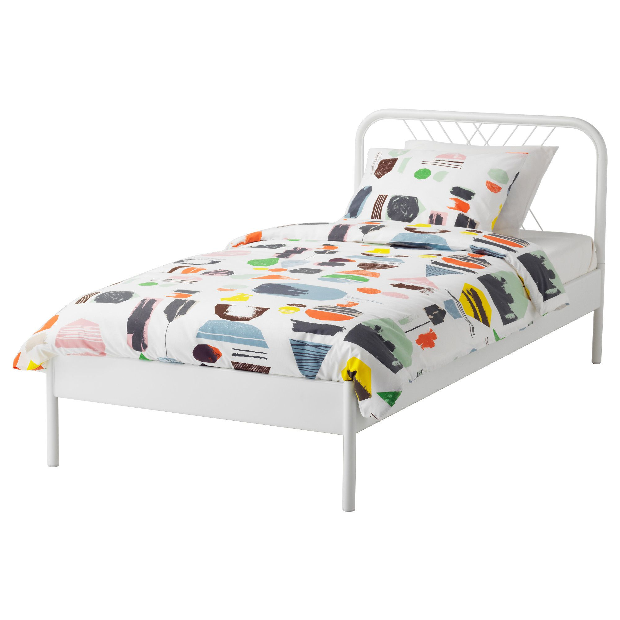 IKEA - NESTTUN Bed frame white, Lönset | Pinterest | Products