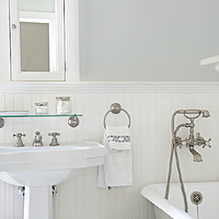 Titan And Co Bathrooms Silver Gray Walls White Inset