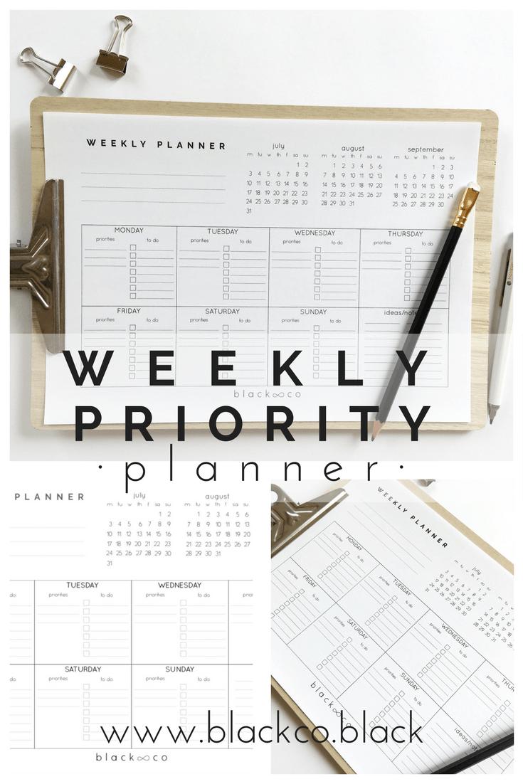 Weekly Priority Planner Get The Freebie Weekly Planner