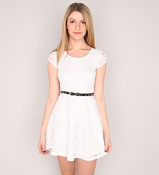Lace skater dress w studded belt on urban planet wishlist pinterest urban planet - Avis urban dressing ...