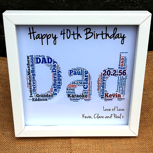Fabulous at 40-40th present 40 birthday frame Custom birthday gift Personalised MIlestone Framed Gift Milestone birthday gift frame