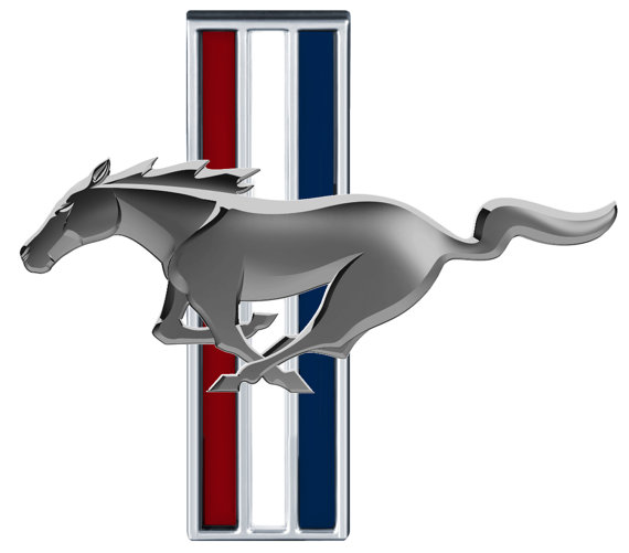 Ford Mustang Tri Bar Logo Emblem Vinyl Decal Wall Graphic
