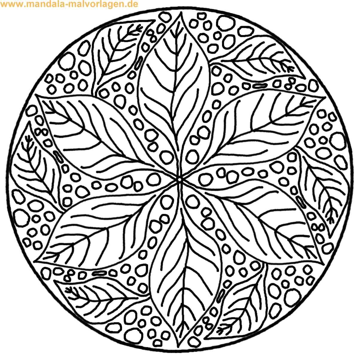 Malvorlagen Herbst Mandala | My blog