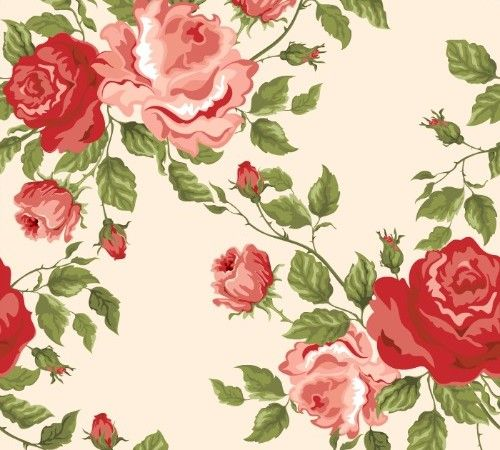 Free Tileable Seamless Floral Shabby Chic Vintage Wallpaper Background Rosas Vintage Flowers Background Dibujos