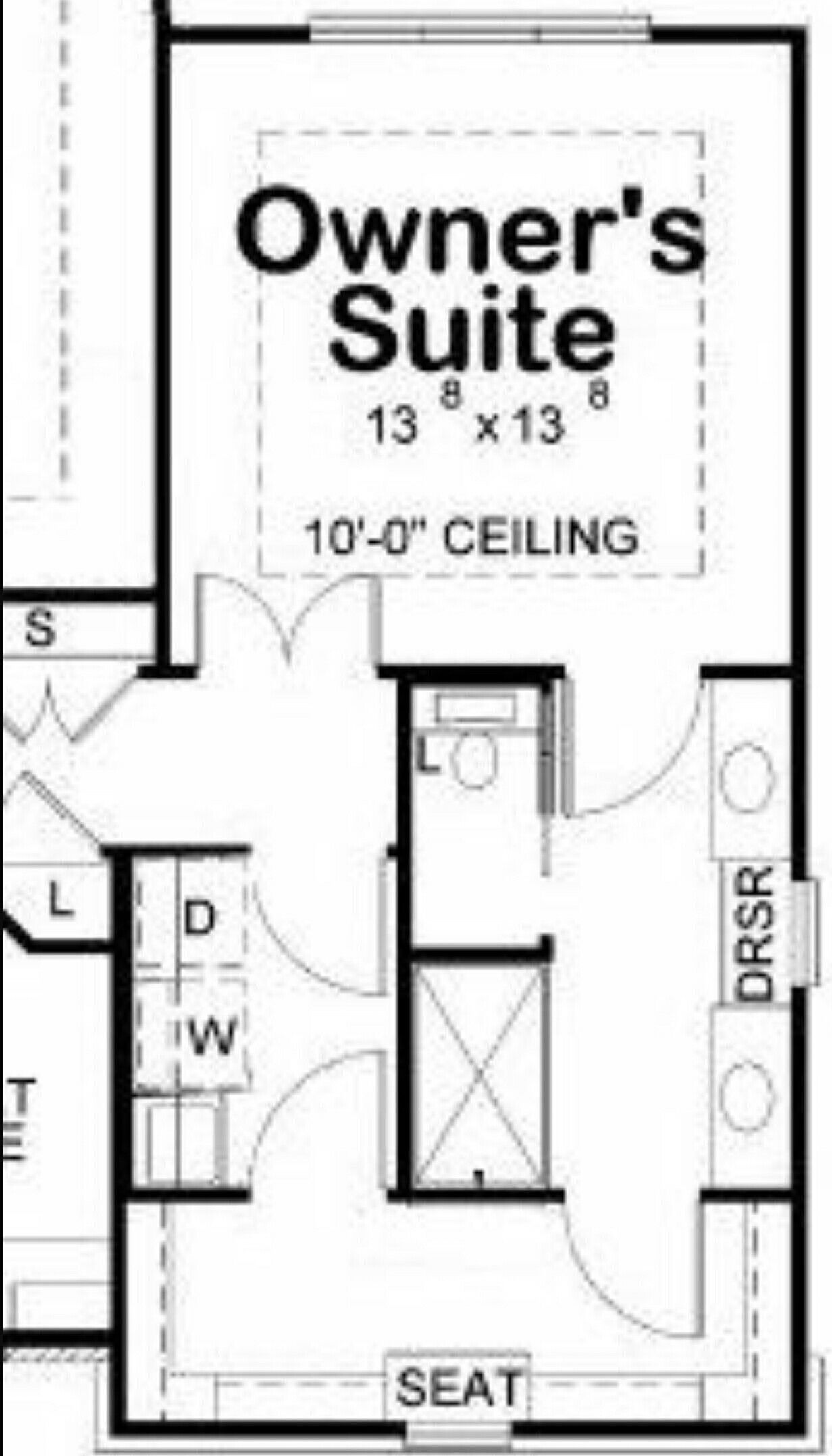 Owner S En Suite Walk Through Closet Adjoining Laundry Master Bedroom Addition Bathroom Floor Plans Master Bedroom Layout