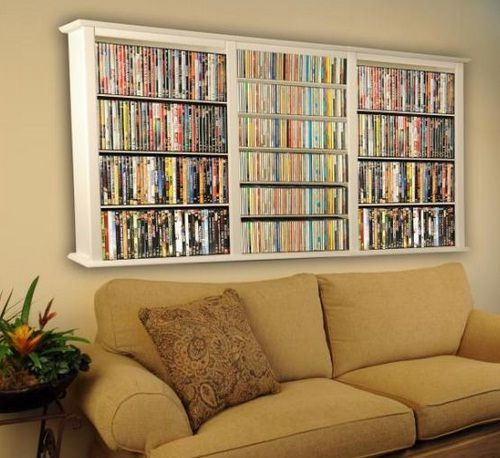 Dvd storage shelves on pinterest dvd wall storage dvd In wall dvd storage