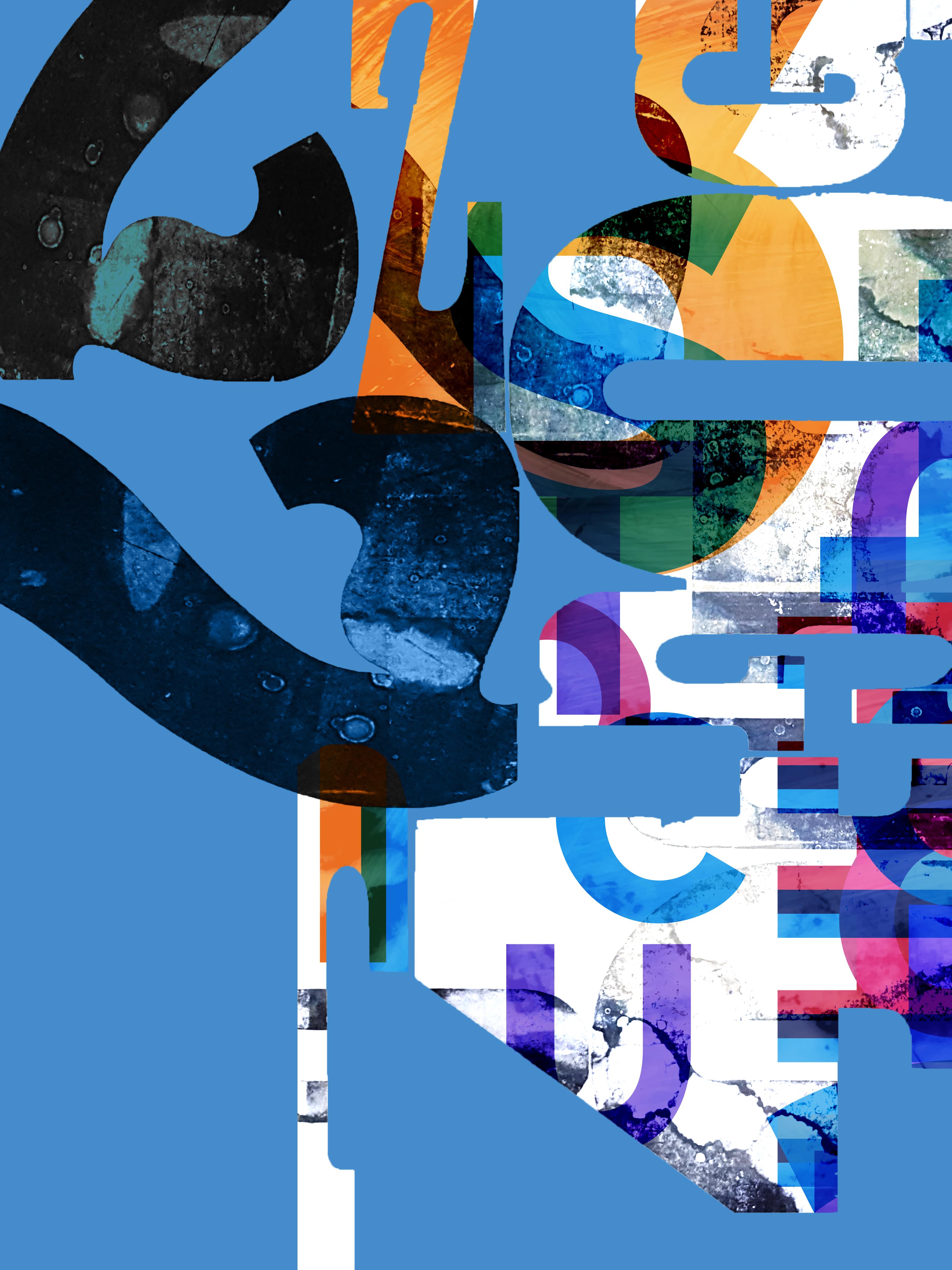Tidal Waves Letters & Digital 3120X4160 Px