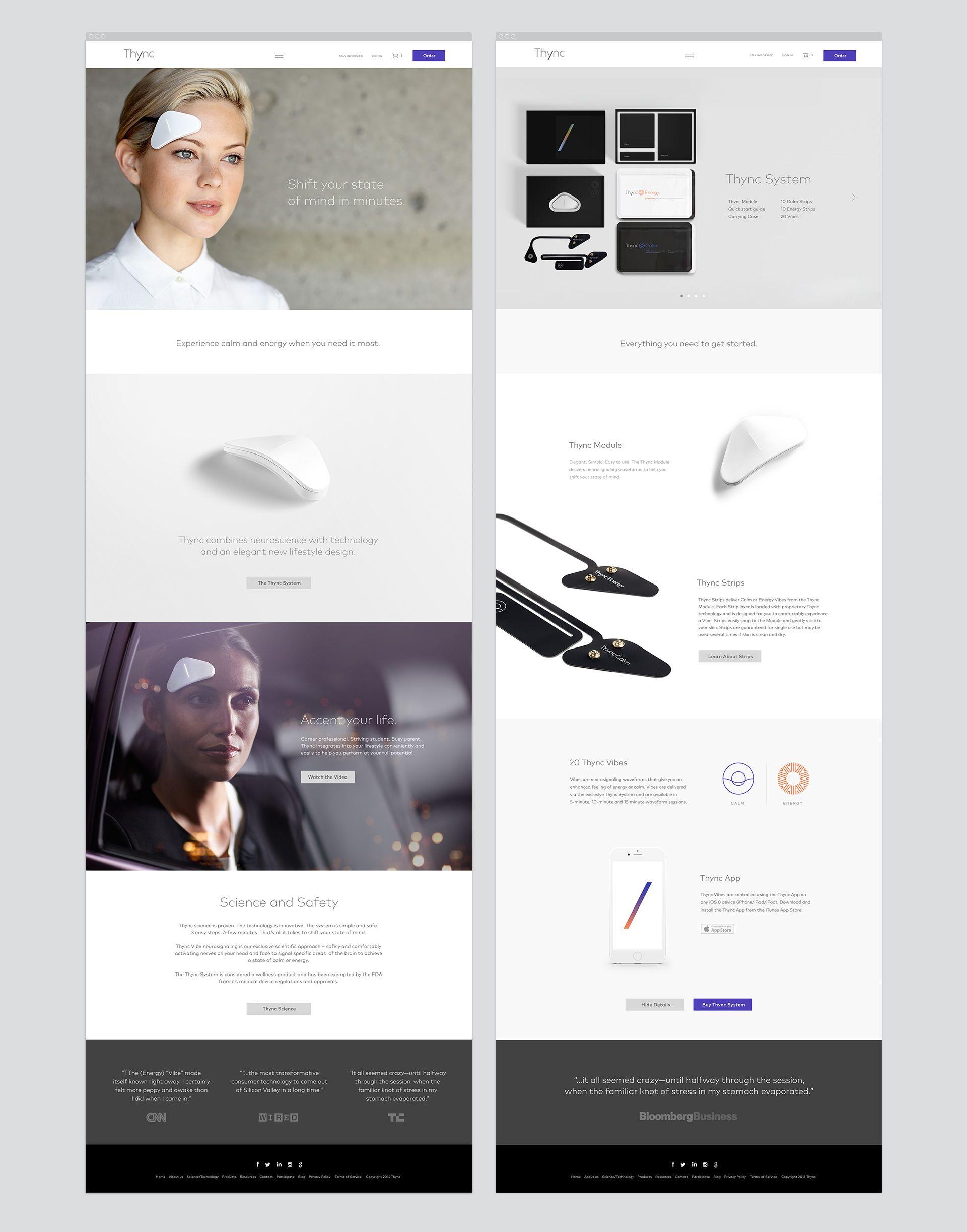 Thync Web Jpg By Matt Carvalho Fun Website Design Web Design Resources Web Design