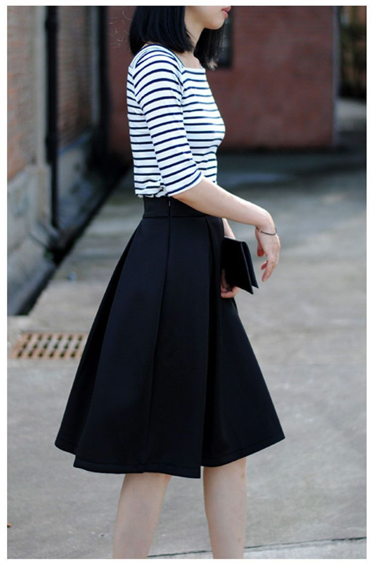 Pleated Midi Skirt | EEK!! Must have that outfit! | Pinterest ...