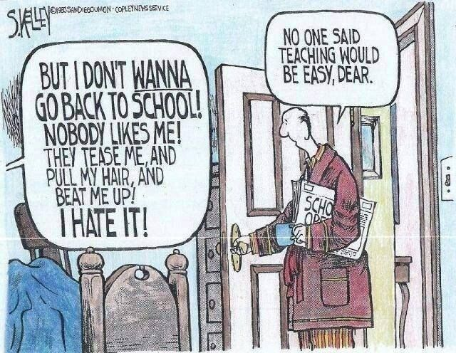 Back to school cartoon