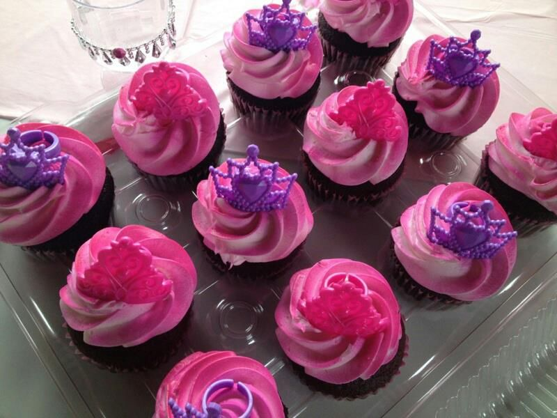 Sensational Cupcakes Ordered From Stater Bros And Crowns From Etsy With Funny Birthday Cards Online Drosicarndamsfinfo