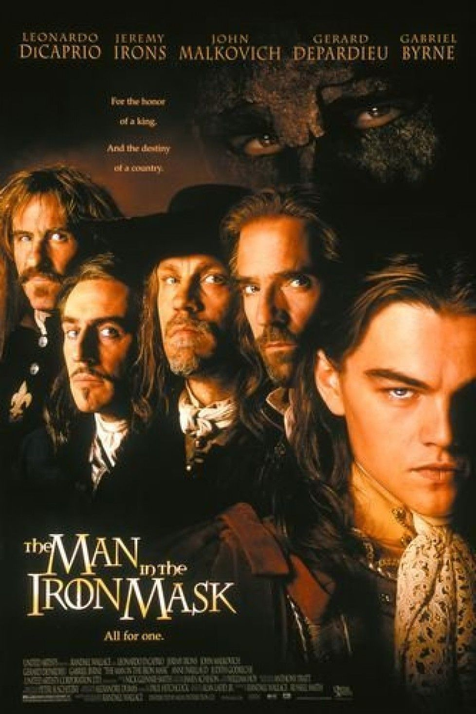 The Man in the Iron Mask (1998) - A film that I watched over and over.