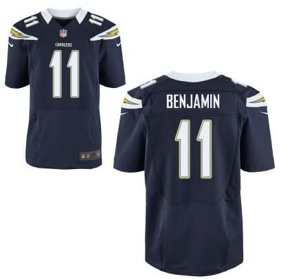 Men's San Diego Chargers #11 Travis Benjamin Navy Blue Team Color NFL Nike Elite Jersey