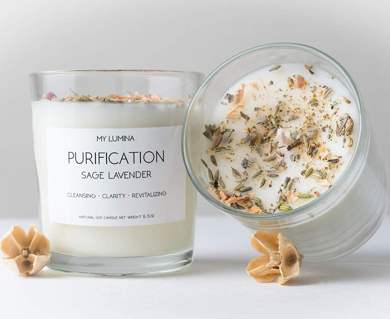 Aromatic Handmade 6 5 Oz Purification Candle With Sage Lavender Soy Candle Handmade Candle Perfect Gift In 2020 Healing Candles Soy Candles Aromatherapy Candles