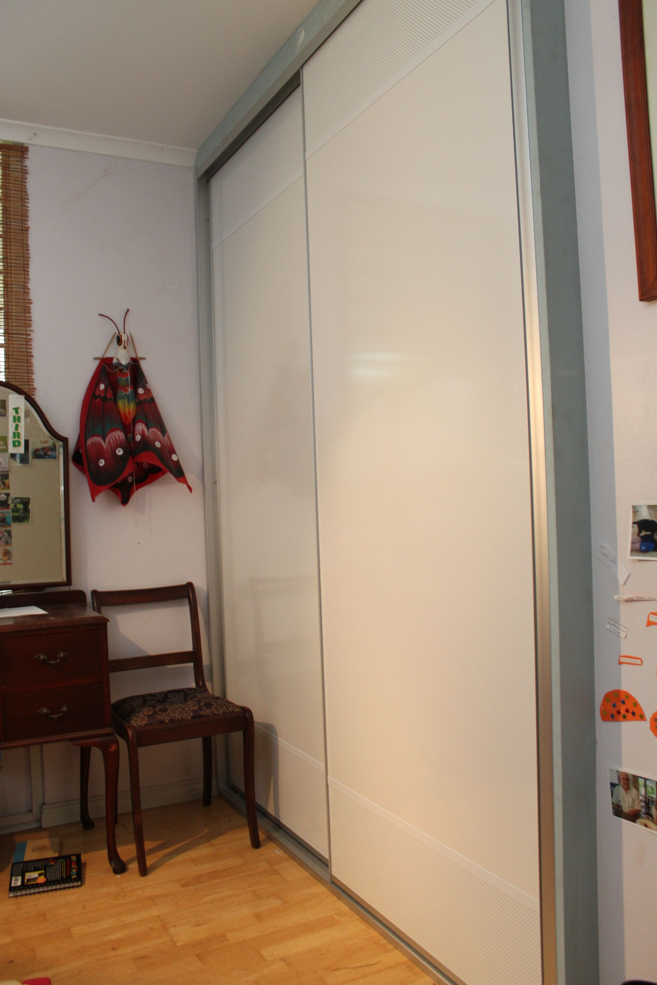 One Of Our First Designs The Troppo Sliding Door White Mesh Powder