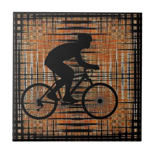 Cyclist Ceramic Tiles #Cyclist #Bike #Bicycle #Cycling #Tile