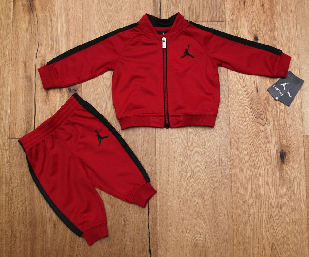 8b0748a2b5a94a Air Jordan Infant Boy Jogging Set ~ Red   Black ~ Tracksuit ~  Jordan   Tracksuit  BabyBoy  AirJordan  JoggingSet