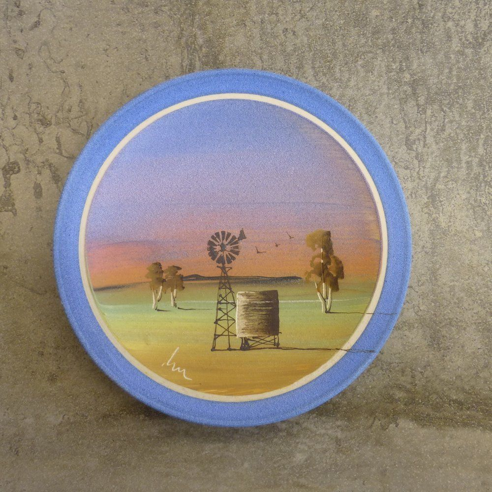 Les MacLeman Pottery Small Decorative Plate Landscape 14.5cm Australian 1990s : small decorative plates - pezcame.com