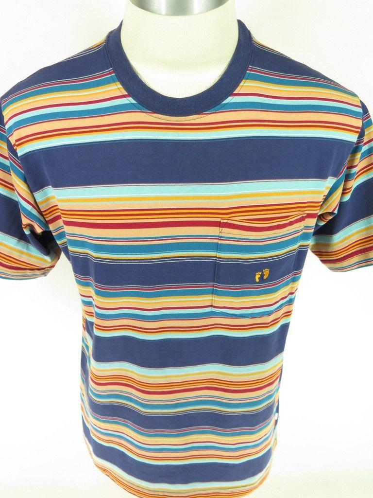 3d0a036863810 Vtg 60s Hang Ten Surfer Striped COTTON T-shirt XL USA MADE